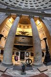 Tomb of vittorio emanuele II within the Pantheon in Rome Stock Photos