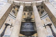 Tomb of Vittorio Emmanuel, Pantheon Royalty Free Stock Images