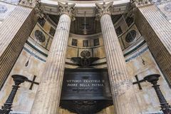 Tomb of Vittorio Emmanuel, Pantheon. The Tomb of Victor Emanuel II & x28;Vittorio Emanuele II& x29;, inside the Pantheon in Rome, Italy Stock Image