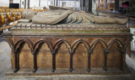 Tomb of William Longspee in Salisbury Cathedral Stock Images