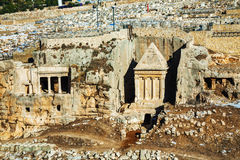 Tomb of Zechariah in Jerusalem Stock Photos