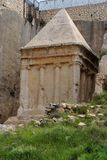 Tomba antica di Zechariah a Gerusalemme Fotografia Stock
