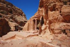 Tomba antica nel PETRA fotografia stock