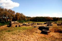 Tomba antica in populonia fotografia stock