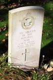 Tomba britannica sconosciuta dell'ufficiale pilota, Nes, Ameland Immagini Stock