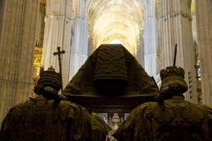 Tomba cattedrale di Columbus, Siviglia Fotografia Stock Libera da Diritti