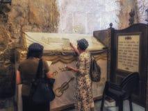 Tomba dei €™s di re Davidâ nella vecchia città di Gerusalemme fotografia stock libera da diritti