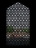 Tomba dei humayuns della finestra fotografie stock libere da diritti