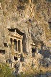 Tomba dei re antichi di Lykia Fotografia Stock Libera da Diritti