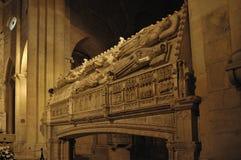 Tomba dei re della Catalogna nel monastero di Poblet in catrame fotografia stock libera da diritti