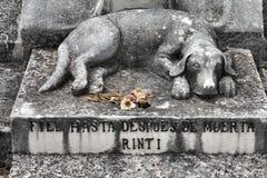 Tomba del cane immagini stock