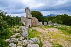 Tomba del ` di Giants, Sardegna, Italia fotografia stock