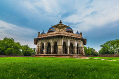 Tomba del giardino del ` s di Isa Khan, Delhi fotografia stock