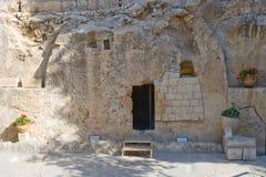Tomba del giardino a Gerusalemme fotografie stock