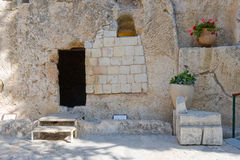 Tomba del giardino a Gerusalemme fotografia stock