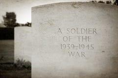 Tomba del soldato fotografia stock libera da diritti