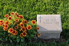 Tomba del soldato della Nuova Zelanda ad Anzac Cove, Gallipoli Fotografie Stock
