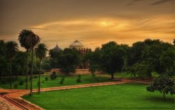Tomba Delhi del ` s di Humayun fotografia stock