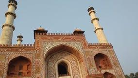 Tomba dell'imperatore Akbar Sikandra di Mughal immagine stock