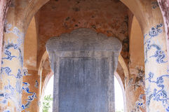 Tomba dell'imperatore Tu Duc nella tonalità, Vietnam fotografia stock libera da diritti