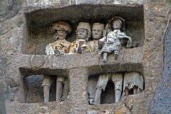 Tomba della famiglia di Toraja immagine stock libera da diritti