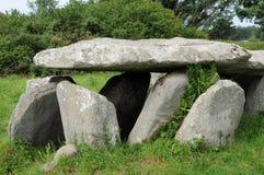 Tomba della galleria nella l Ile grande in Bretagna Fotografie Stock Libere da Diritti