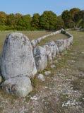 Tomba della nave di Viking immagini stock libere da diritti