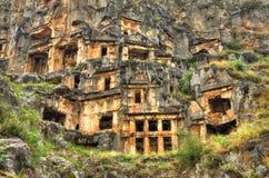 Tomba della roccia di Lycian, fotografia di HDR Immagine Stock