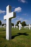 Tomba descrivente trasversale di guerra Fotografie Stock