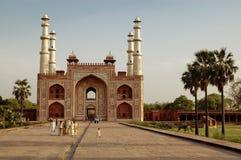 Tomba di Akbar The Great a Agra, India fotografia stock libera da diritti
