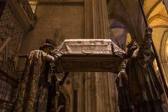 Tomba di Cristoforo Colombo, cattedrale di Siviglia, Siviglia, spagna immagine stock