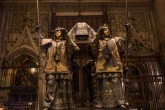 Tomba di Cristoforo Colombo, cattedrale di Siviglia, Siviglia, spagna fotografia stock