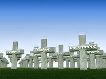 Tomba di economia Fotografia Stock