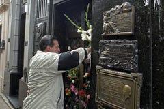 Tomba di Evita Perron, Buenos Aires, Argentina Fotografia Stock