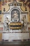 Tomba di Galileo Galilei nella basilica di Santa Croce, Firenze, Italia, Europa Fotografia Stock Libera da Diritti