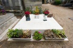 Tomba di Gilbert Becaud Immagine Stock