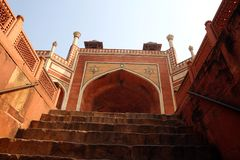 Tomba di Humayun a Delhi, India fotografia stock libera da diritti