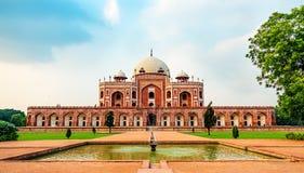 Tomba di Humayuns, destinazione popolare a Delhi immagine stock libera da diritti