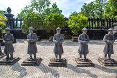 Tomba di Khai Dinh nella tonalità, Vietnam fotografia stock libera da diritti