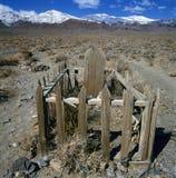 Tomba di legno anonima immagine stock