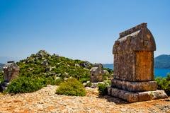 Tomba di Lycian immagini stock libere da diritti