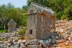Tomba di Lycian immagini stock