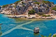 Tomba di Lycian immagine stock