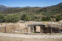 Tomba di Micene, cerchio grave fotografia stock libera da diritti
