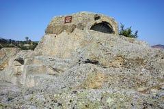 Tomba di Orfeo nel santuario antico Tatul, regione di Thracian di Kardzhali fotografia stock