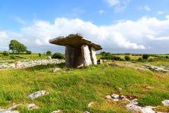 Tomba di Poulnabrone, Irlanda fotografia stock libera da diritti