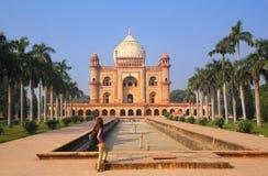 Tomba di Safdarjung a Nuova Delhi, India immagini stock libere da diritti