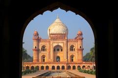 Tomba di Safdarjung veduta dall'ingresso principale, Nuova Delhi, India Immagini Stock Libere da Diritti