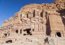 Tomba di seta petra jordan fotografia stock libera da diritti