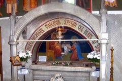Tomba di Stephen le grande, monastero di Putna, Suceava Fotografia Stock Libera da Diritti